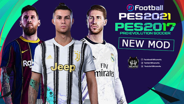 PES 2021 New Mod For PES 2017 v1.0