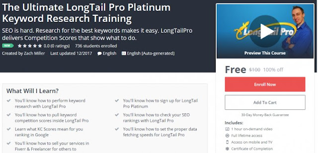 [100% Off] The Ultimate LongTail Pro Platinum Keyword Research Training| Worth 100$