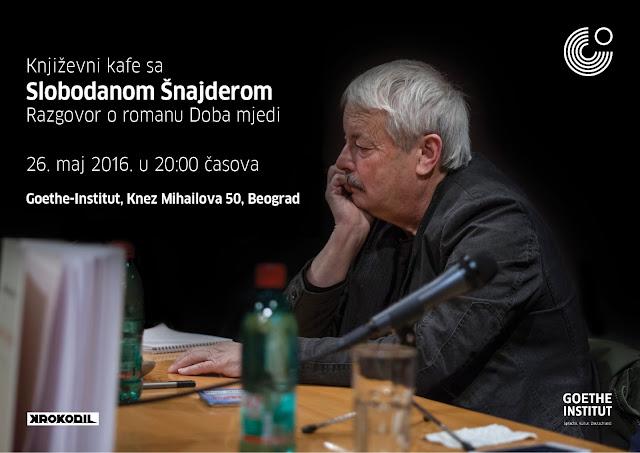 "Slobodan Šnajder - gost ""Književnog kafea"""