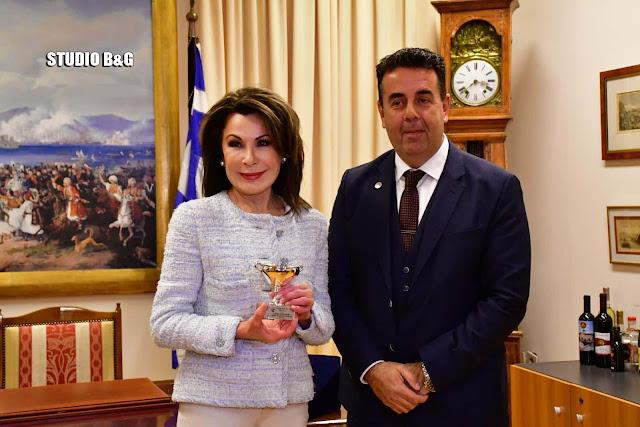 """Από το Ναύπλιο ξεκίνησαν οι επαφές της Γιάννας Αγγελοπούλου για τις εκδηλώσεις """"Ελλάδα 2021"""""""