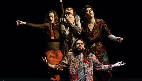les 4 danseurs de la pièce Fin et Suite de Simon Tanguy