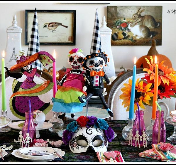 Sugar Skull Tablescape: Celebrating Day of the Dead