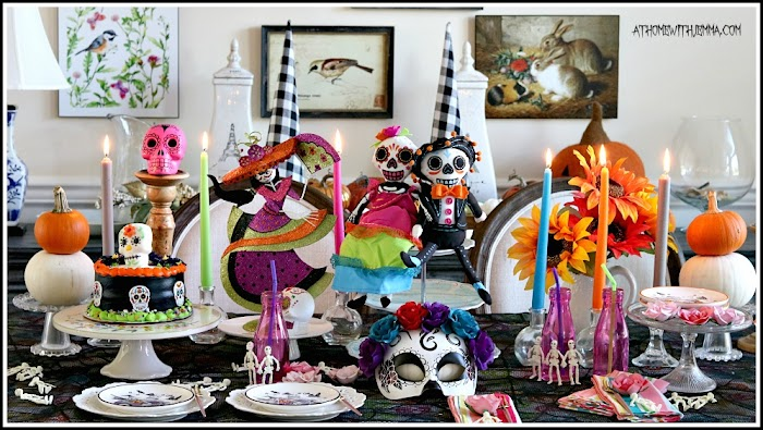 Sugar Skull Tablescape: Celebrating Day of the Dead