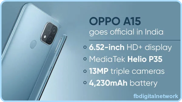 OPPO A15- Price in India, released, date, & Full specifications