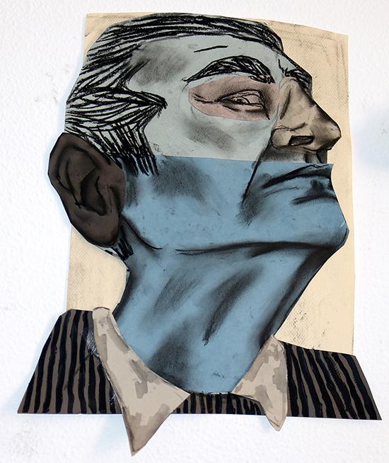 Susanna Inglada  no title, 2020 charcoal, acrylic, pastel, on coloured paper 36 x 28 cm