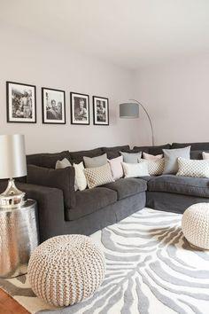 einrichtungsideen wohnzimmer grau weiß | minimalistische haus design