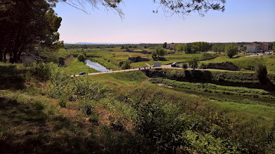 Palmanova: View southwest from the city wall near Porta Aquileia.