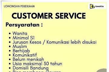 Loker Bandung Customer Service Gawai Kita