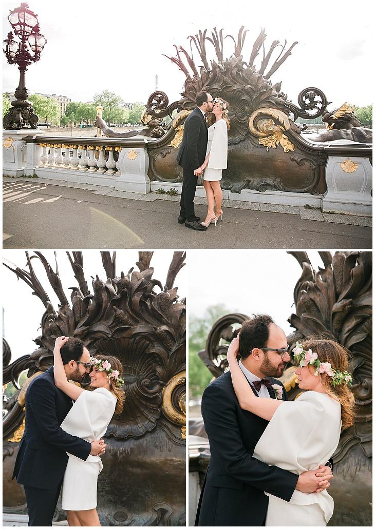 photographe mariage chic paris tour eiffel robe mairie