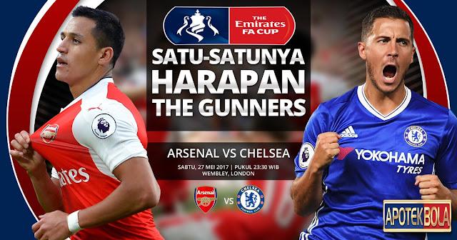 Prediksi Pertandingan -Arsenal vs Chelsea 27 Mei 2017
