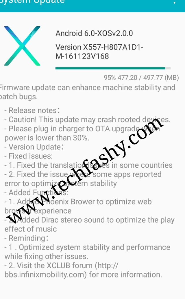 Infinix X557 Hot 4 New XOS OTA Update & Installation Guide On Rooted Device