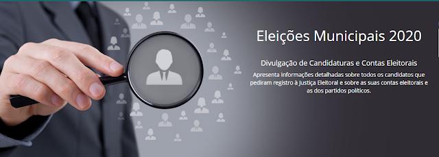 ELEIÇÕES 2020: Site do TSE faz divulgação de Candidaturas e Contas Eleitorais por município, veja