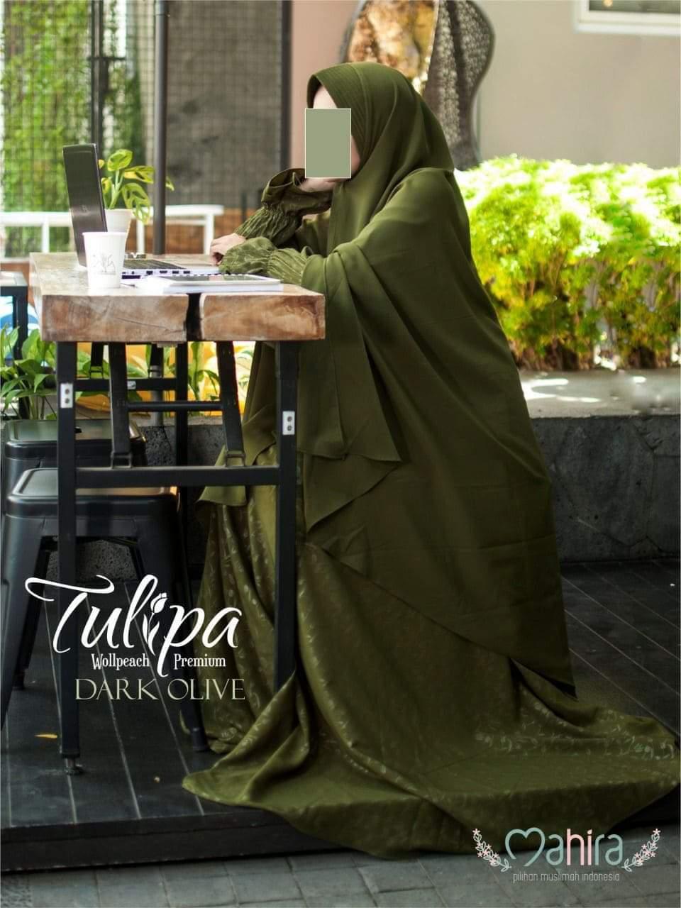 Mahira Tulipa Wollpeach Premium Dark Olive