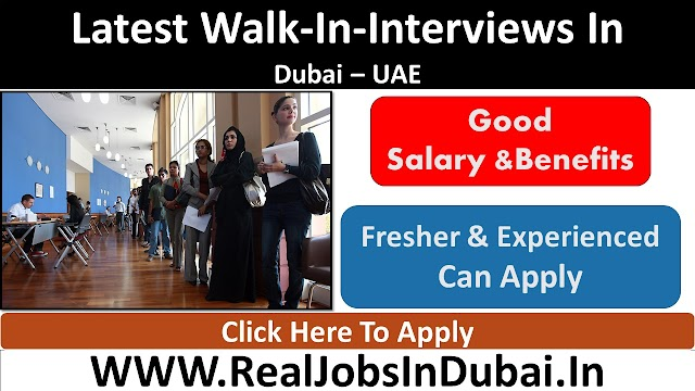 Walk In Interview In Dubai - Today & Tomorrow (November).