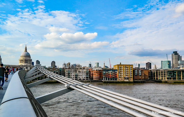 Millenium Bridge e Catedral de Saint Paul, Londres