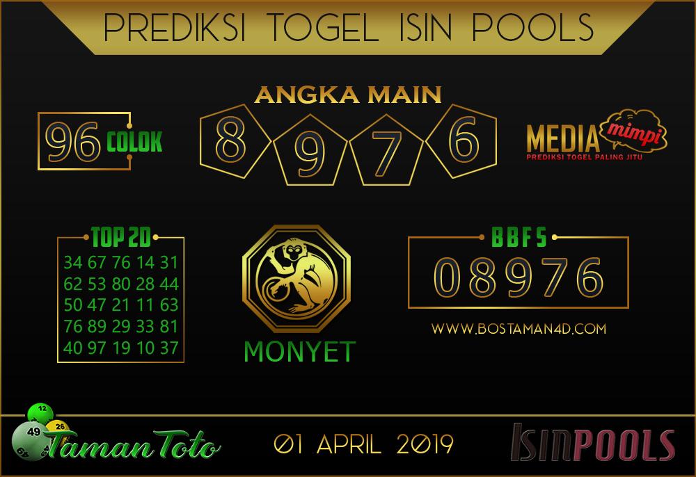 Prediksi Togel ISIN TAMAN TOTO 01 APRIL 2019