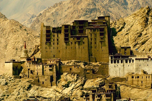 Leh Palace in Jammu & Kashmir  IMAGES, GIF, ANIMATED GIF, WALLPAPER, STICKER FOR WHATSAPP & FACEBOOK