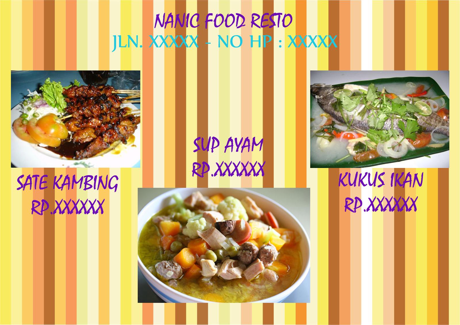 Contoh Brosur Makanan Sederhana 2013 Food Blog S