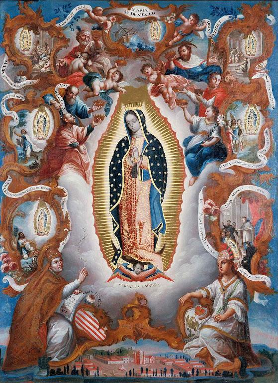 Nossa Senhora de Guadalupe levou à conversão em massa dos indígenas.