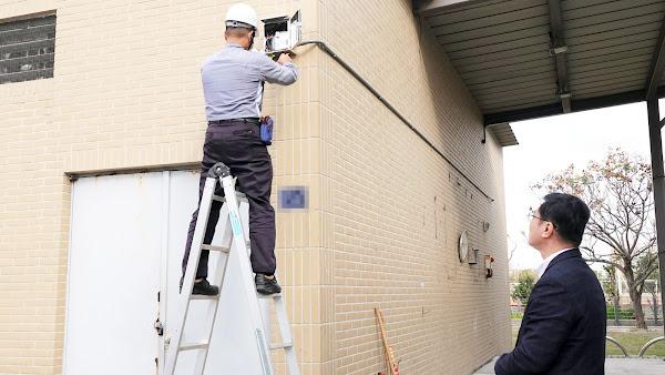 鹿港體育場風雨球場 加裝監視器遏止宵小