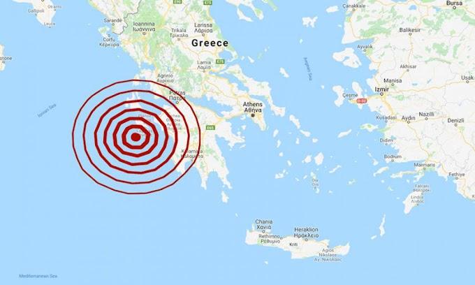 Σεισμός 5,2 Ρίχτερ κοντά στη Ζάκυνθο