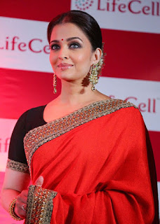 Aishwarya Rai Red Saree 1