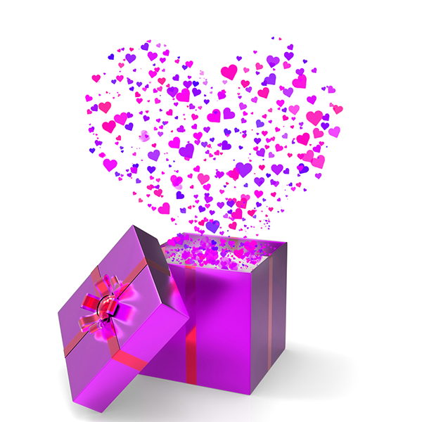 Purple love present