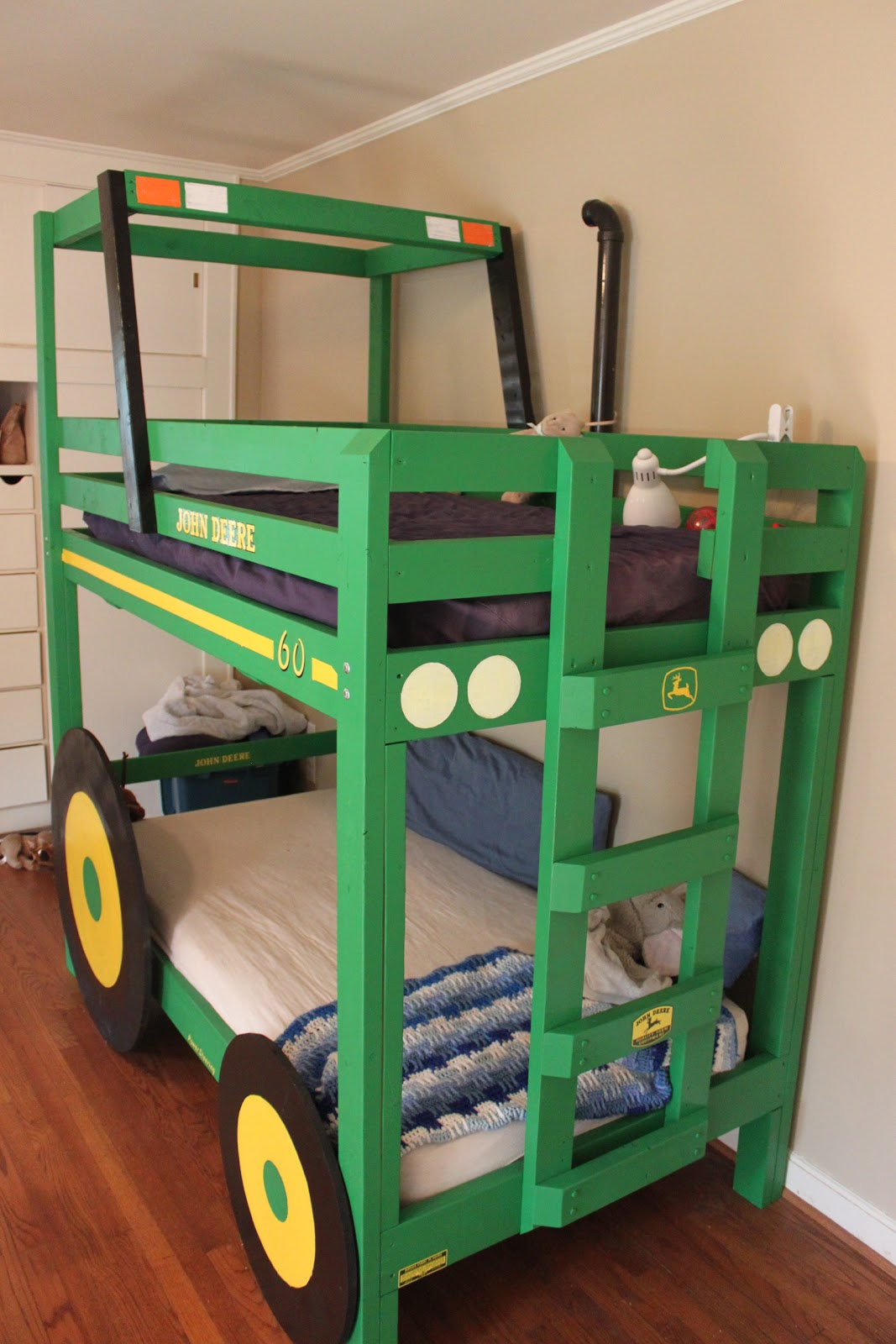Here Is The Latest Example Of His Awesomeness Super Cool Tractor Bunk Bed He Just Built Boys Little Man Has Been Asking For