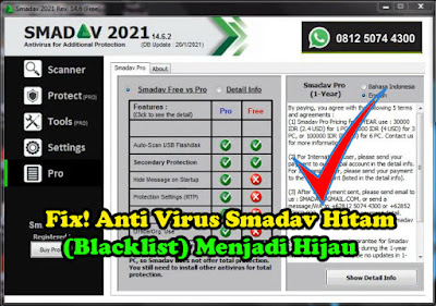 Cara Mengatasi Anti Virus Smadav Menjadi Hitam, Blacklist, smadav hitam, blacklist smadav, tutorial, smadav, Anti Virus, antivirus,