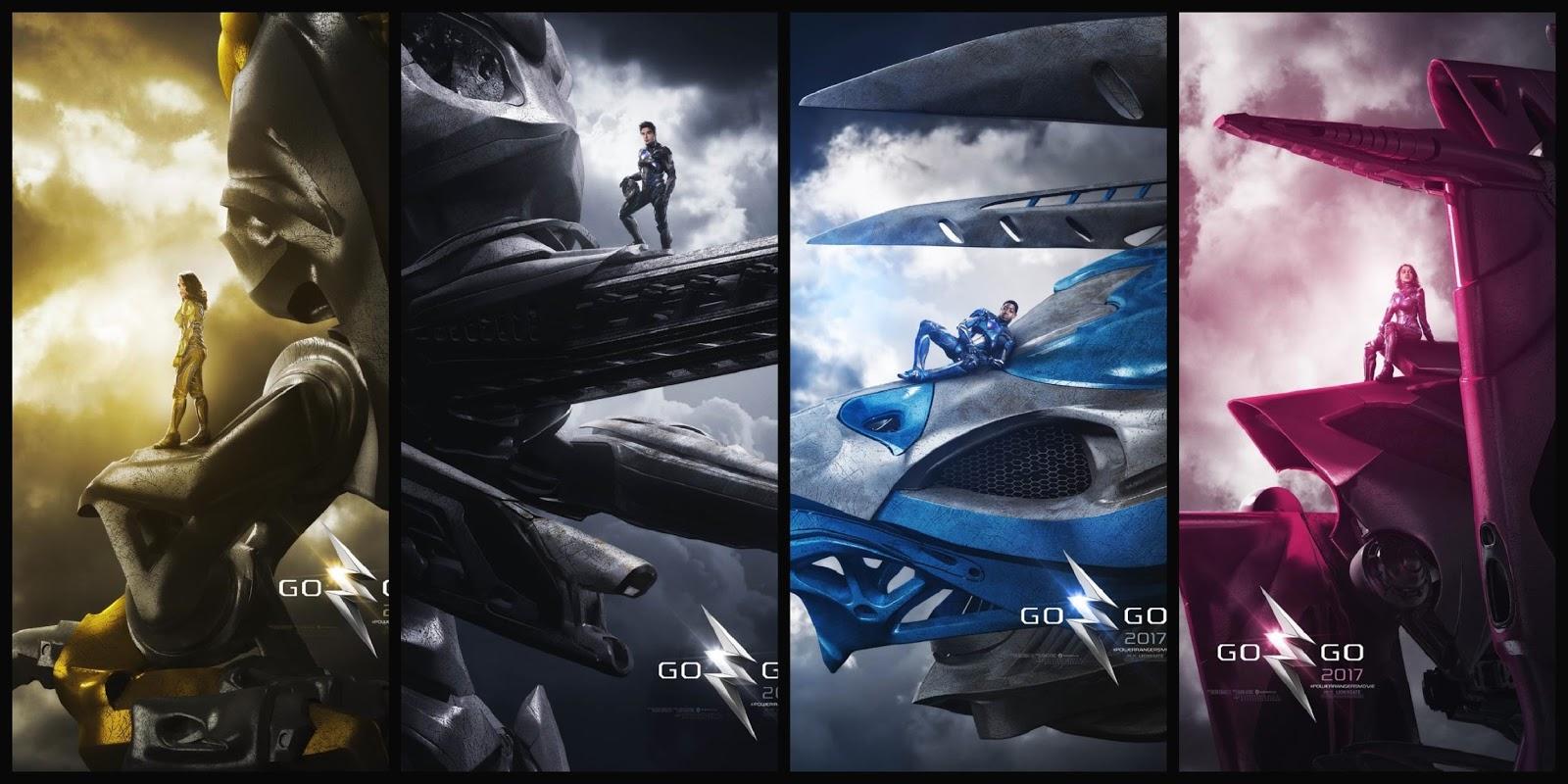 Power Rangers: O Filme | Heróis exibem seus Zords em artes inéditas
