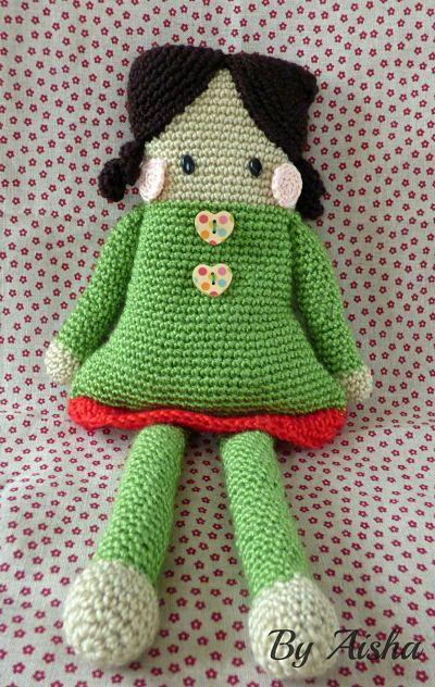 muñeca hecha de crochet
