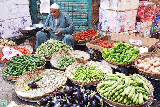 Mercado local en Luxor