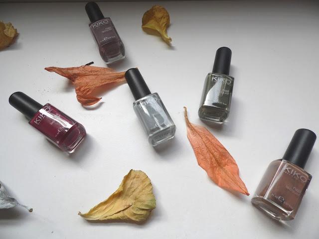 Mon top 5 des vernis Kiko pour l'automne