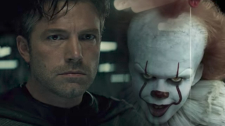 batman y pennywise se encuentran en el trailer de batman vs it