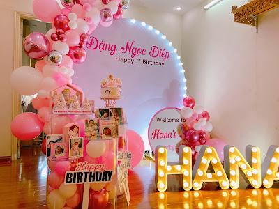 dịch vụ trang trí sinh nhật cho bé thanh xuân