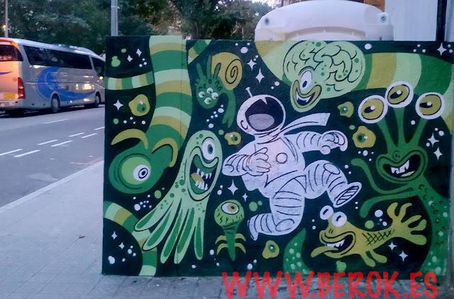 graffiti astronauta Barcelona