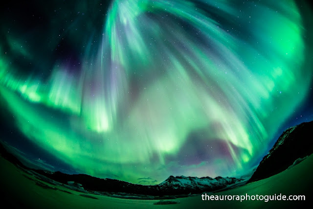 Auroras boreais na Islândia