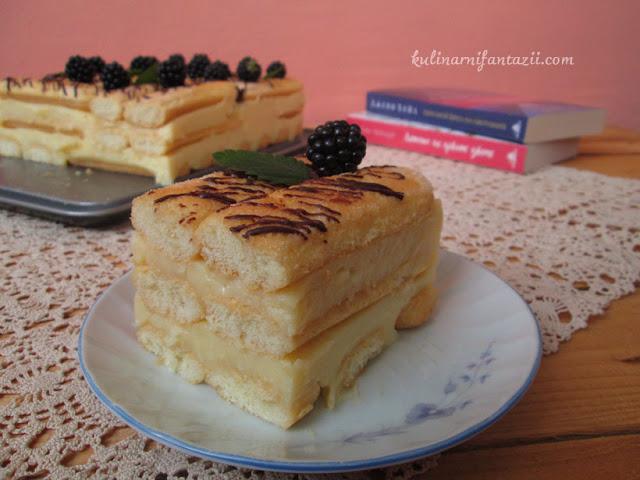 Торта с бишкоти и домашен ванилов крем