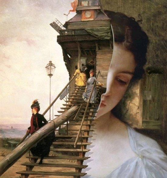 Welder Wings (Francisco Abril e Nuria Velasco) instagram photoshop surreal gótico pinturas clássicas colagens