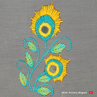 New attractive and colorful hand embroidery, Real color hand embroidery
