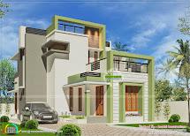 Simple Small Budget Contemporary Home - Kerala Design