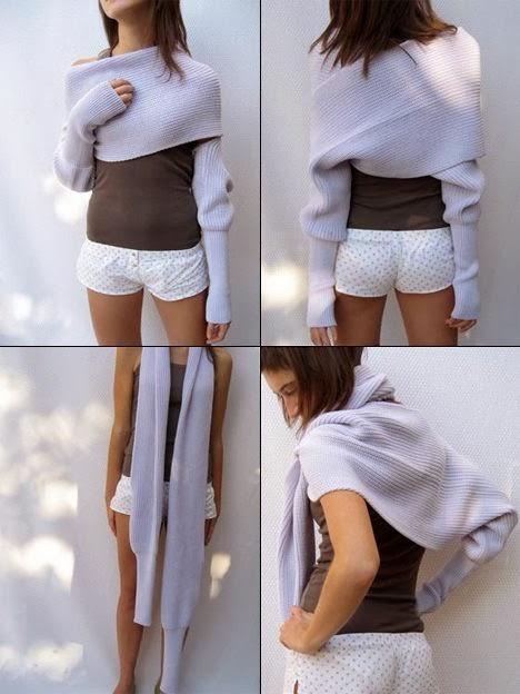 bolero wrap o bufanda con mangas