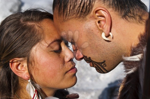 White wolf stunning pictures showcase a sacred tradition of maori traditional mori greeting in new zealand hongi m4hsunfo