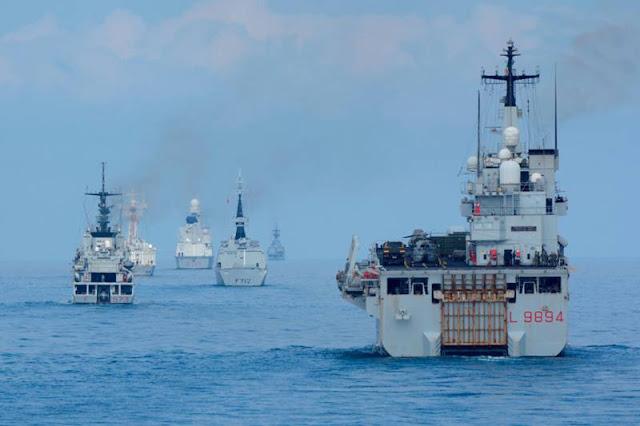 Marina Militare: iniziata l'esercitazione Mare Aperto 2021