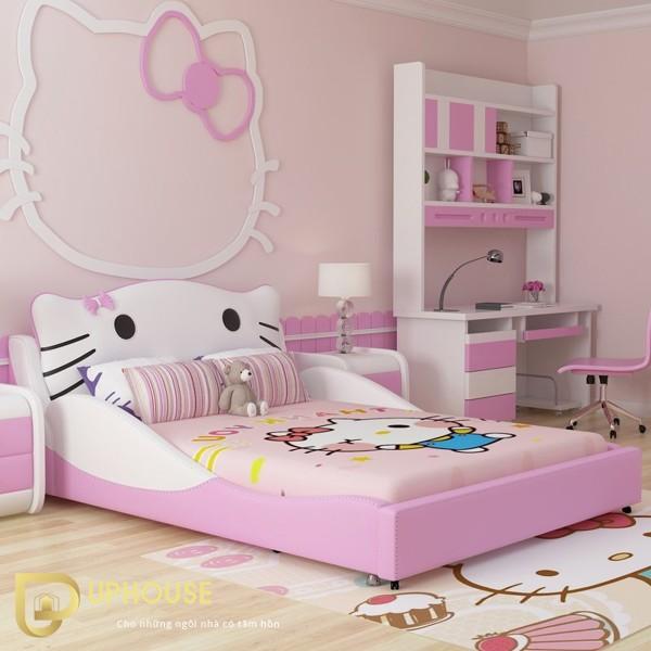 Phòng ngủ màu hồng trắng 02