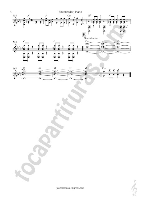 4 La vida es un carnaval partitura de piano tocapartituras 4