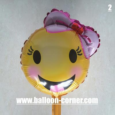 Balon Foil Seri EMOJI Mini