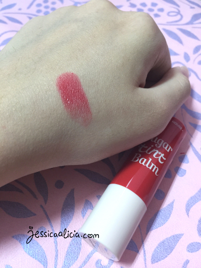 Review : Etude House Sugar Tint Balm - #03 (RD302) Apple Kiss by Jessica Alicia