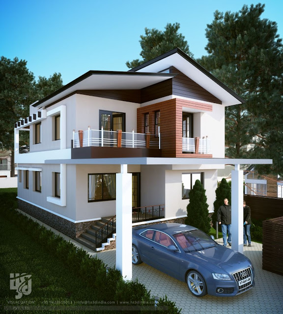 3D ARCHITECTURAL VISUALIZATION: 3D EXTERIOR DESIGN DAY RENDERINGS