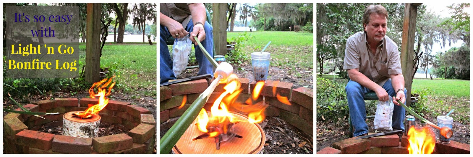Cotton Pickin Cute Light N Go Bonfire Log Giveaway Marshmallows